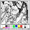 Jeu Enchanted coloring book